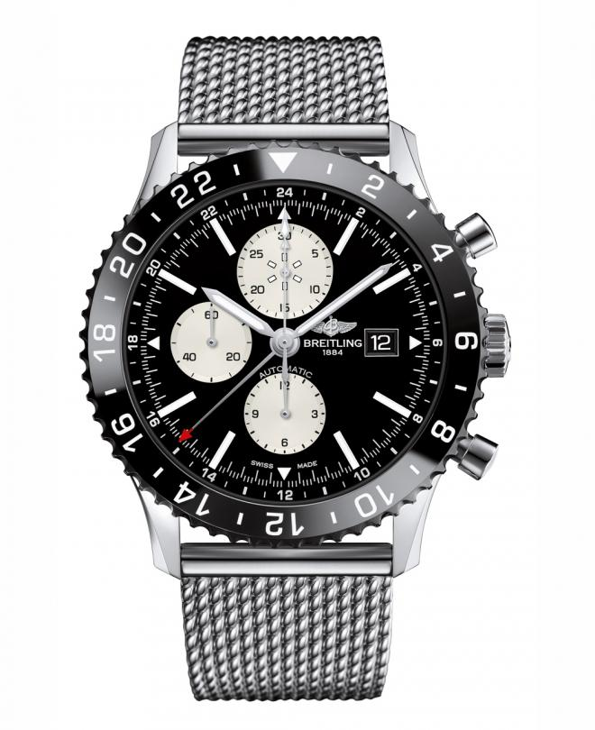 Breitling Chronoliner Ceramic Bezel 48MM Steel Case