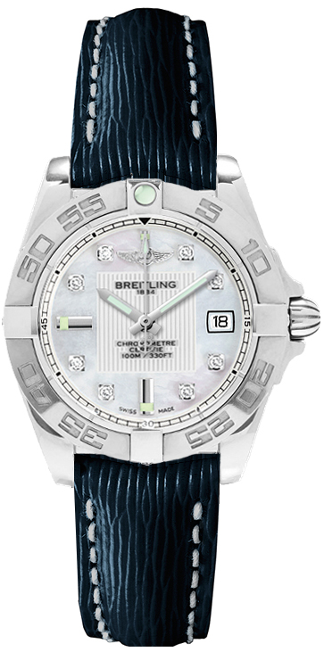 Ladies's Breitling Galactic 32 Blue Strap Fake Watches