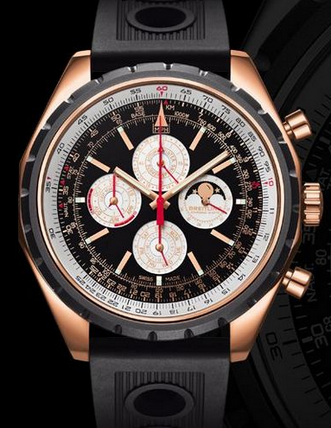 New Complex Breitling Chrono-Matic QP Replica Watches With Rose Gold Cases