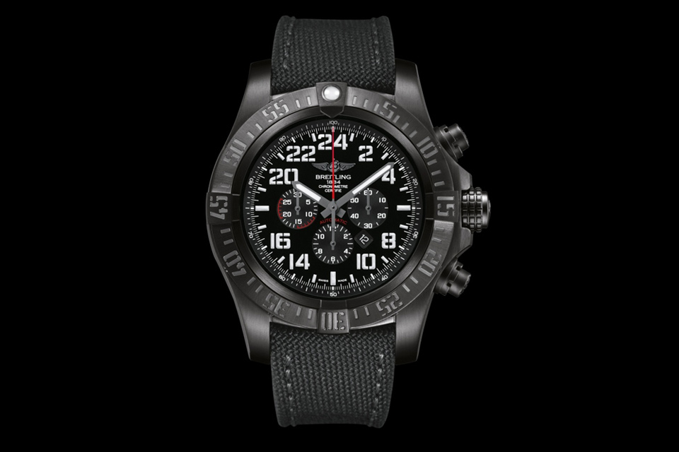 Fake Breitling Super Avenger II Watches With Black Fabric Straps-