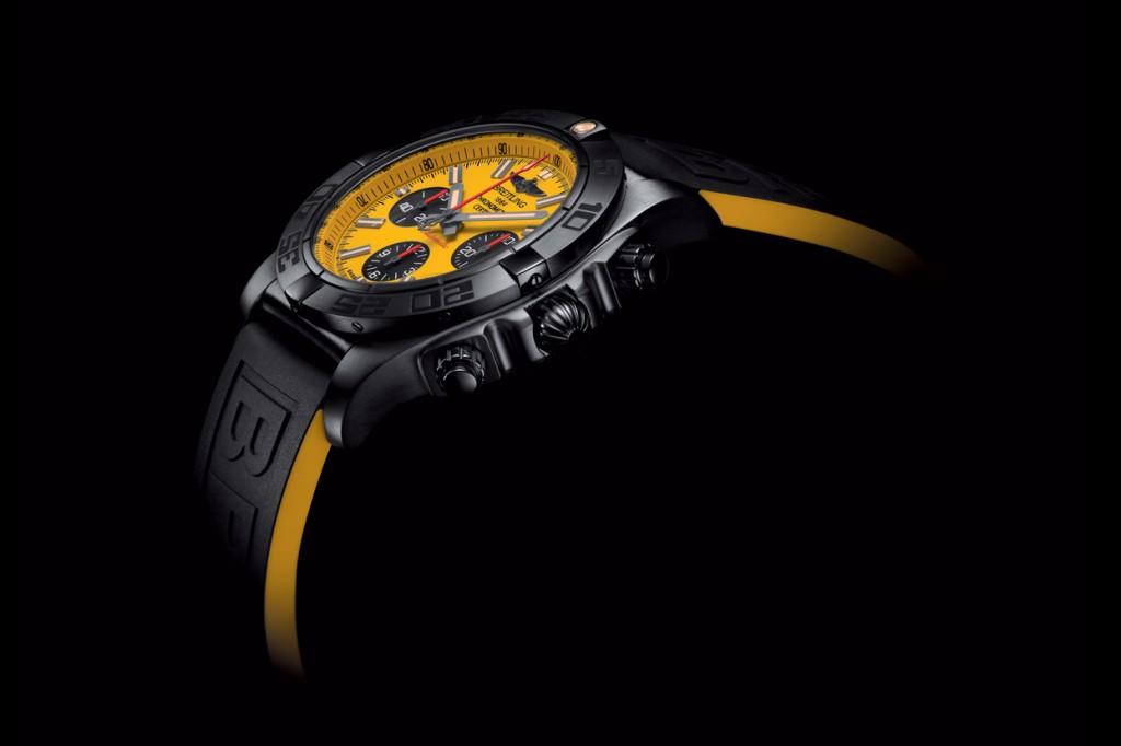 Rubber Straps Replica Breitling Chronomat 44 Blacksteel Watches