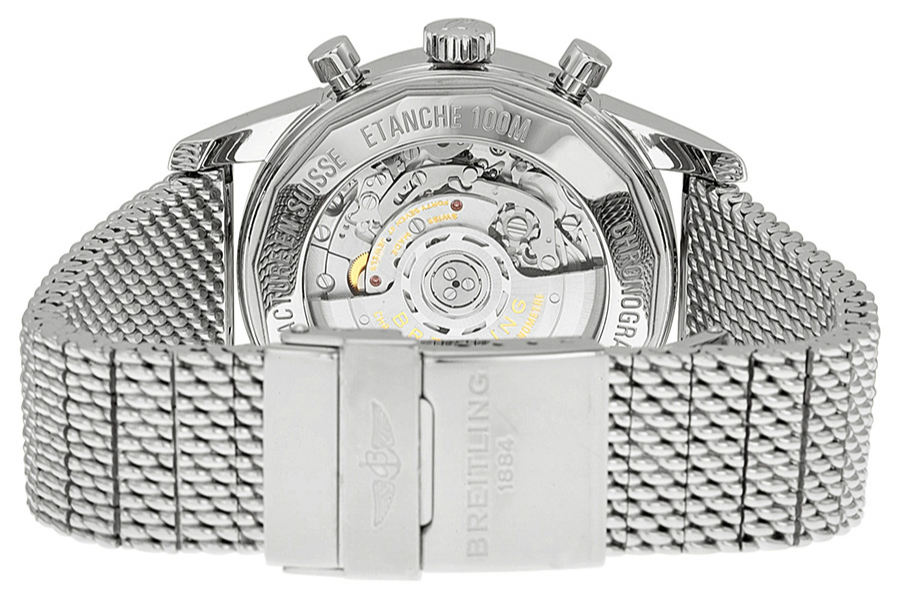 Steel Bracelets Breitling Transocean Chronograph Copy Watches_