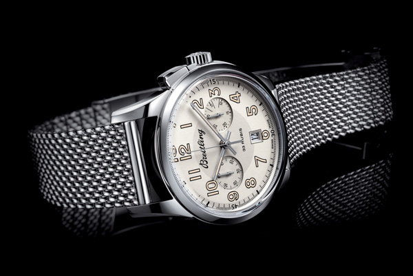stainless steel case copy Breitling Transocean Chronograph 1915