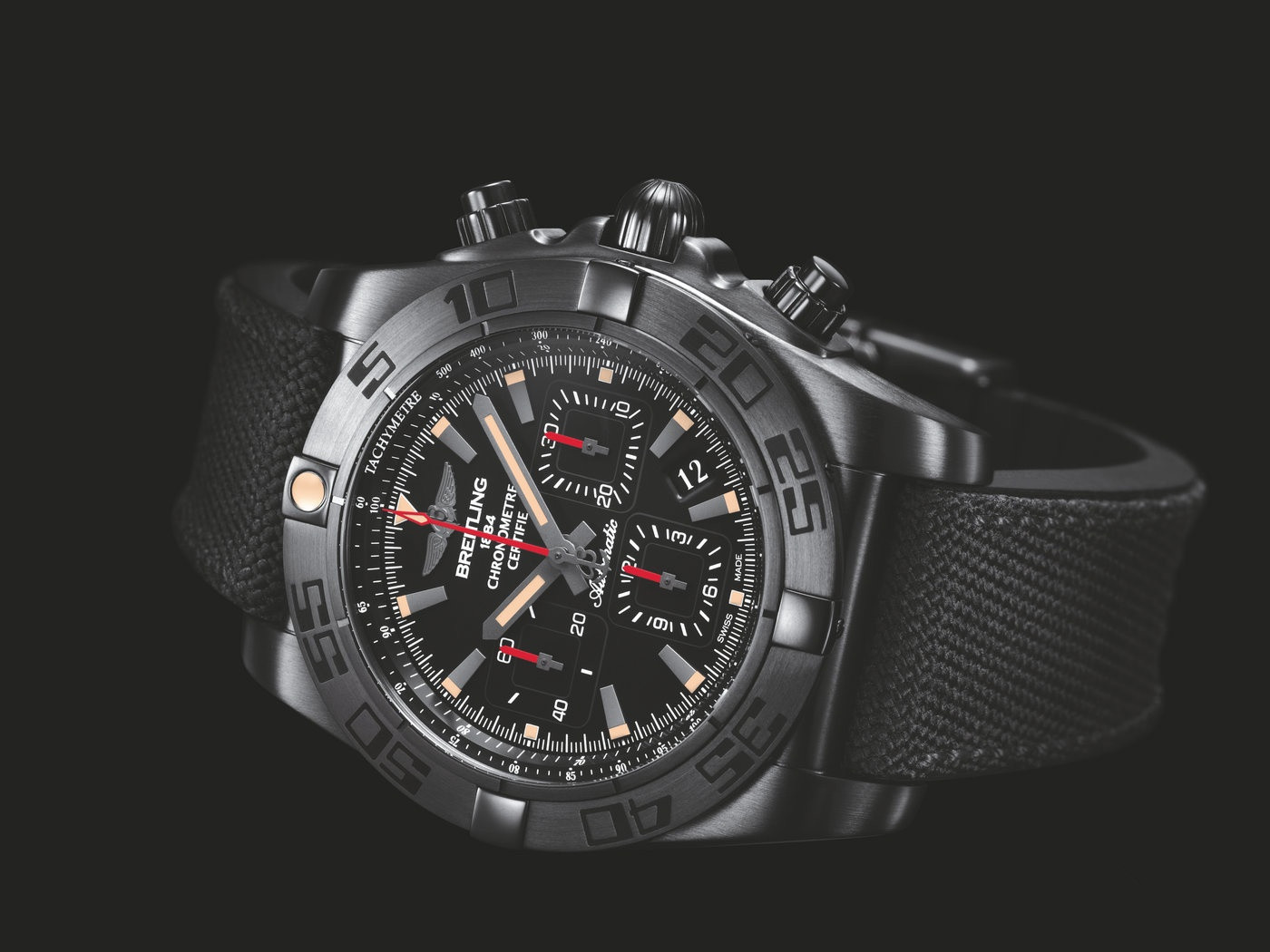 Black Breitling Chronomat Replica Watches