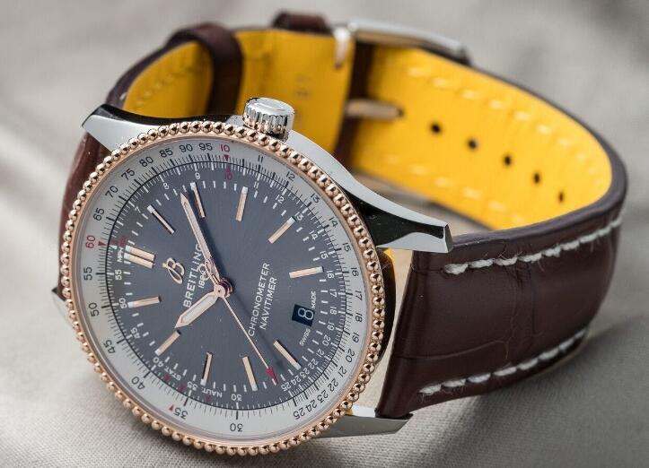 Swiss-made reproduction watches are fascinating with anthracite color.