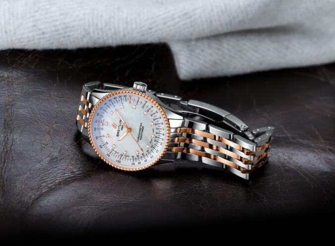 Swiss made replica watches are adorned with diamonds for ladies.