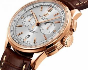 Best fake watches are elegant for men with red gold and brown color.