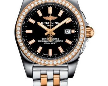 Fake watches online are composed of steel and rose gold materials.